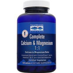 Buy Trace Minerals Research, Complete Calcium & Magnesium 1:1, 120 tabs at Herbal Bless Supplement Store