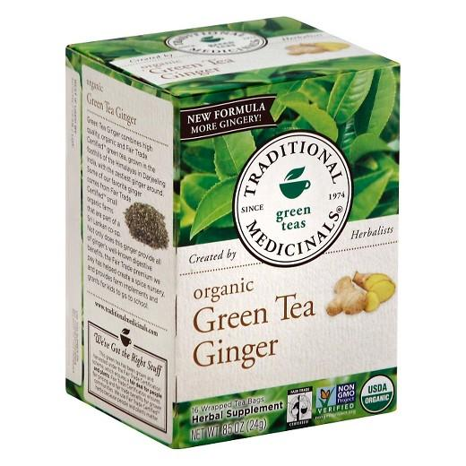 Buy Traditional Medicinals, Organic Green Tea with Ginger 16 ct at Herbal Bless Supplement Store