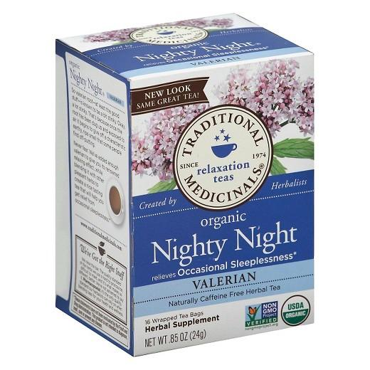 Buy Traditional Medicinals, Organic Nighty Night Valerian Herbal Tea 16 ct at Herbal Bless Supplement Store