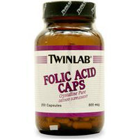 Buy TwinLab Folic Acid (800mcg), 200 caps at Herbal Bless Supplement Store