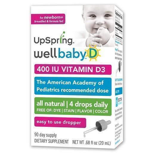 Buy Upspring Wellbaby, Vitamin D Liquid – 0.34 floz at Herbal Bless Supplement Store