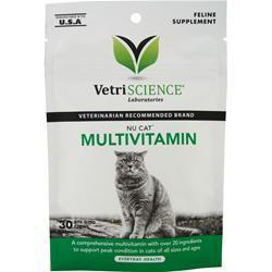 Buy VetriScience Nu Cat Multivitamin, 30 chews at Herbal Bless Supplement Store