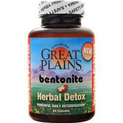 Buy Yerba Prima, Great Plains Bentonite - Herbal Detox, 60 caps at Herbal Bless Supplement Store
