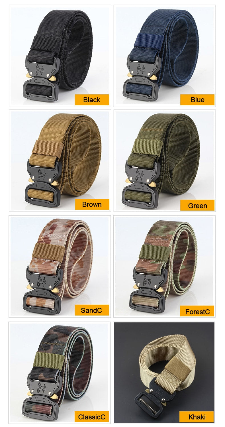 Heavy Duty Tactical Military Buckle Belt
