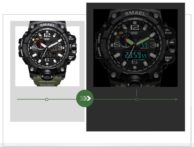 SMX Warrior™ Ultimate Shock Resistant Digital Analog Military Sport Watch