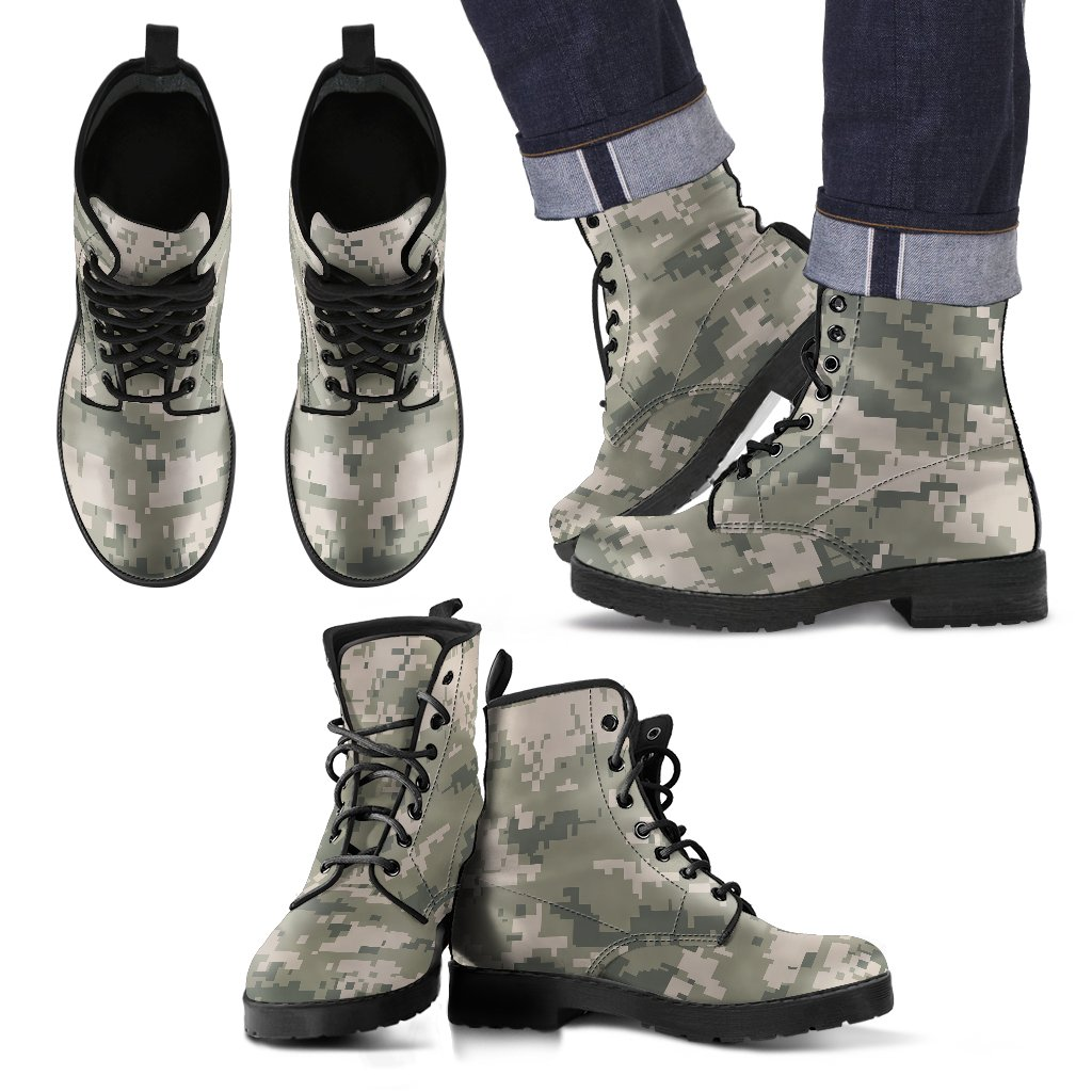 GEAROW™ Premium Camouflage Men's Leather Boots