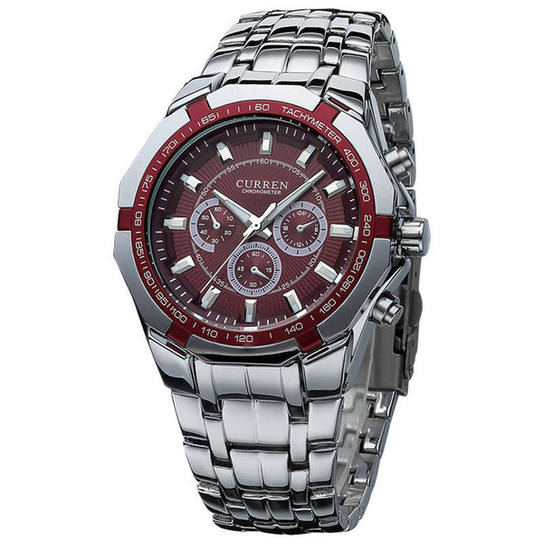 Luxury Curren Quartz Stainless Steel Men's Watch