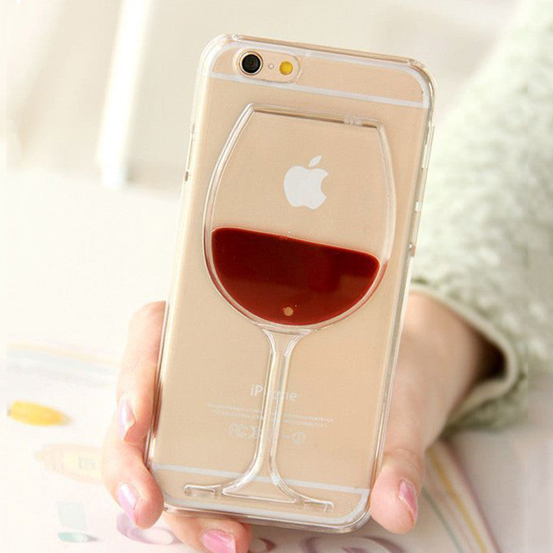 Hot Red Wine Liquid Glass iPhone Case
