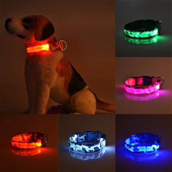 Camouflage Flexible Length LED Dog Collar
