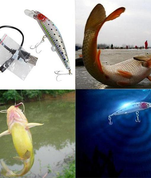 Flashing Light Twitching Fishing Lure