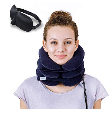 Inflatable Cervical, Neck and Shoulder Traction Device to Improve Spine Alignment and Reduce Neck Pain