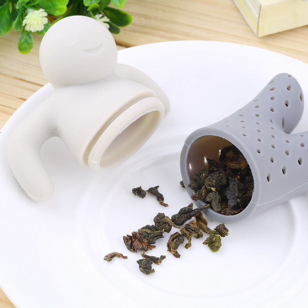 Cute Mr Teapot Silicone Tea Infuser Filter for Tea & Coffee Drinkware