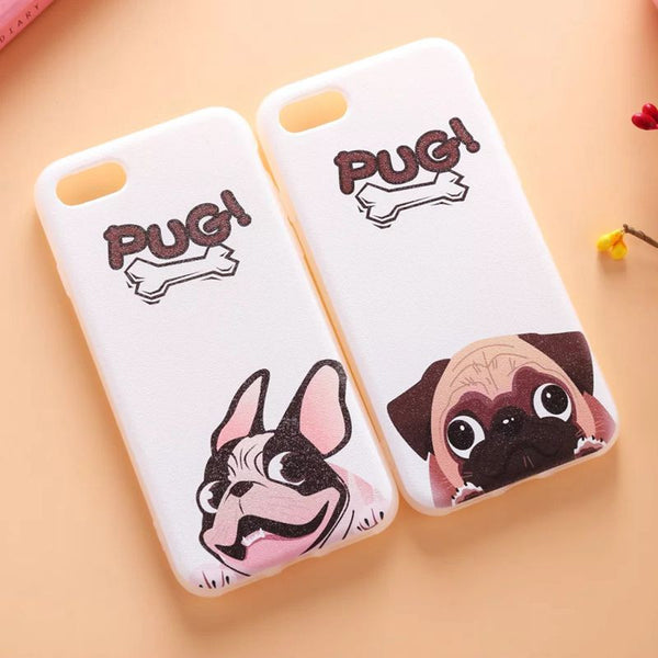 Lovely Pug Dogs Phone Case For iPhone