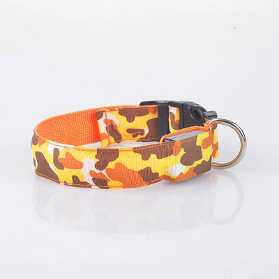 Camouflage Flexible Length LED Safety Dog Collar