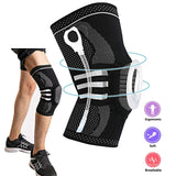 Knee Support Brace Compression Sleeve, Elastic & Breathable Silicon Padded Nylon Kneepads