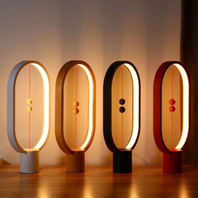 Ellipse magnetic mid-air switch USB powered LED Table Lamp