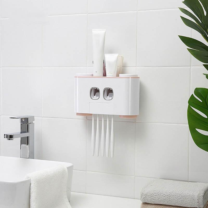 Auto Squeezing Wall Mount Toothpaste Dispenser