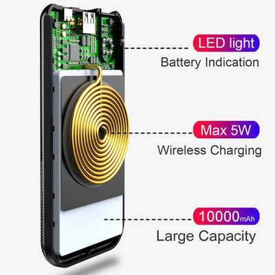 ChargeTech™ 10000mAh Wireless Charging Power Bank