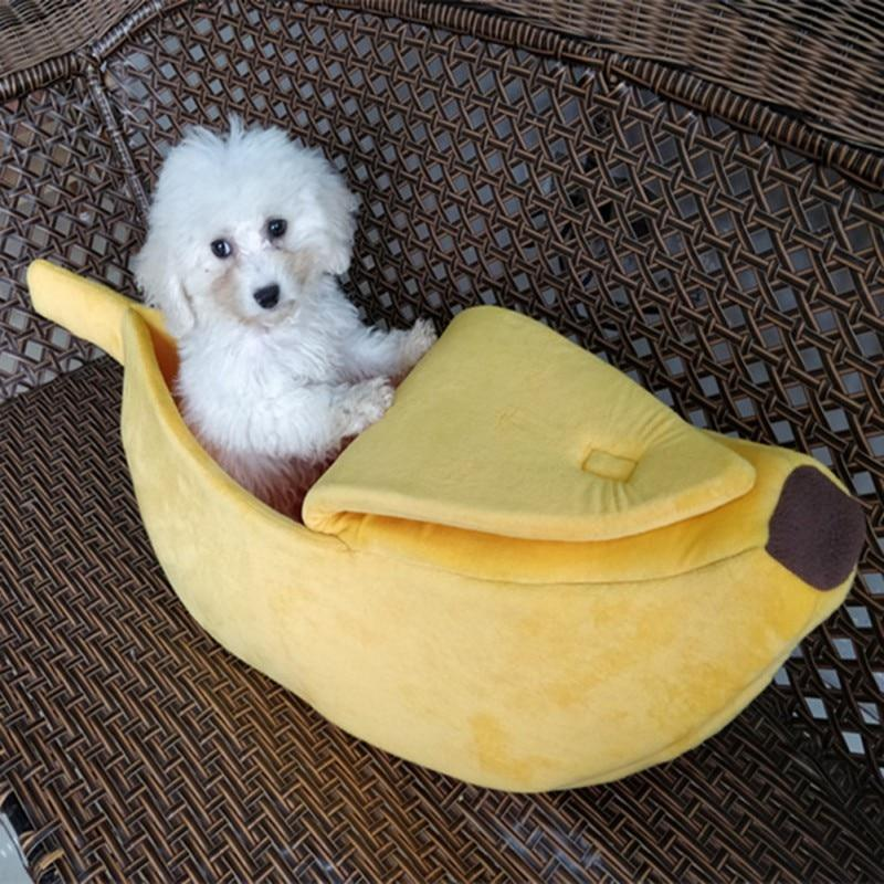 Breathable Banana Shape Dog/Cat Bed House perfect for Winter Season