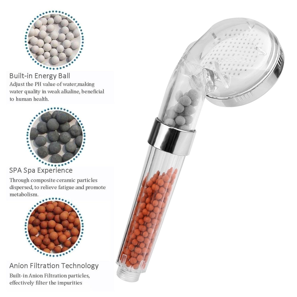 Adjustable High Pressured Ionic Shower Head Filtration