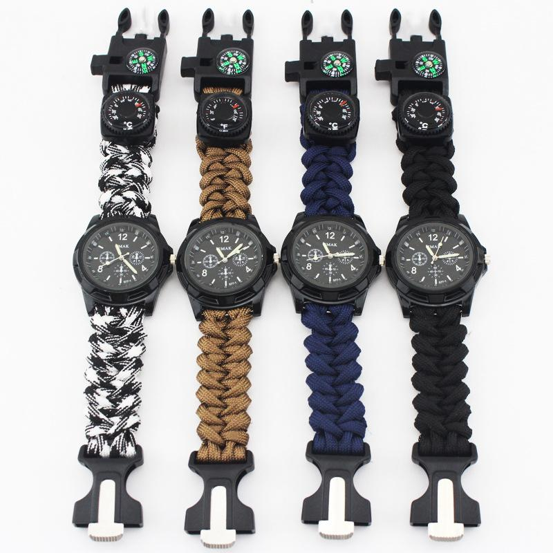 EM8 Paracord Survival Bracelet Watch