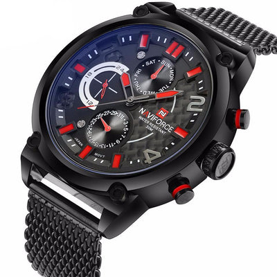 NVX Armor™ Stainless Steel Strap Military Sport Watch