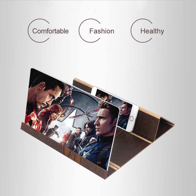 12 Inch Desktop Wood Bracket for Mobile Phone Video Screen Magnifier