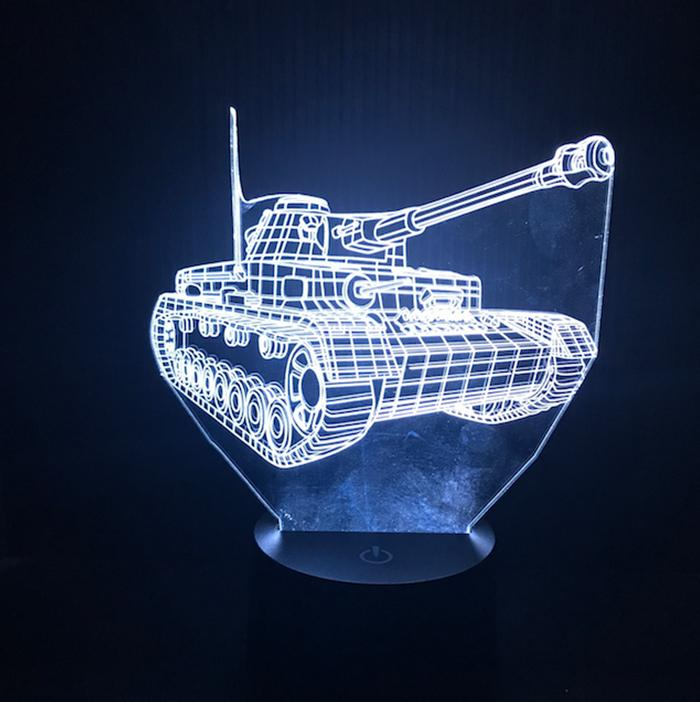 Tank 3D Hologram Lamp