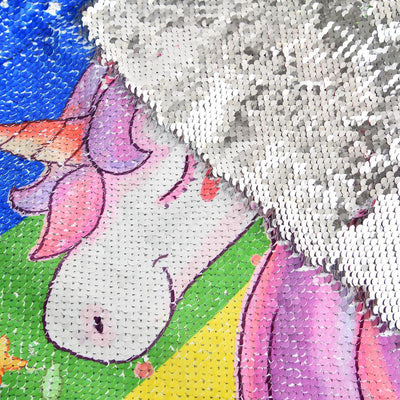 Unicorn Sequin Drawstring Backpack