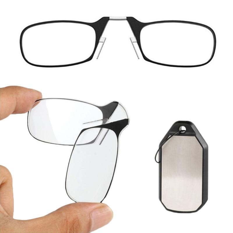 Folding Mini  Magnifier  with Keychain Reading Portable Clip Nose Reading Glasses