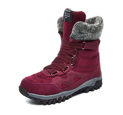 Warm and Water-resistant High Wedge Snow Boots for Hiking Perfect for Winter