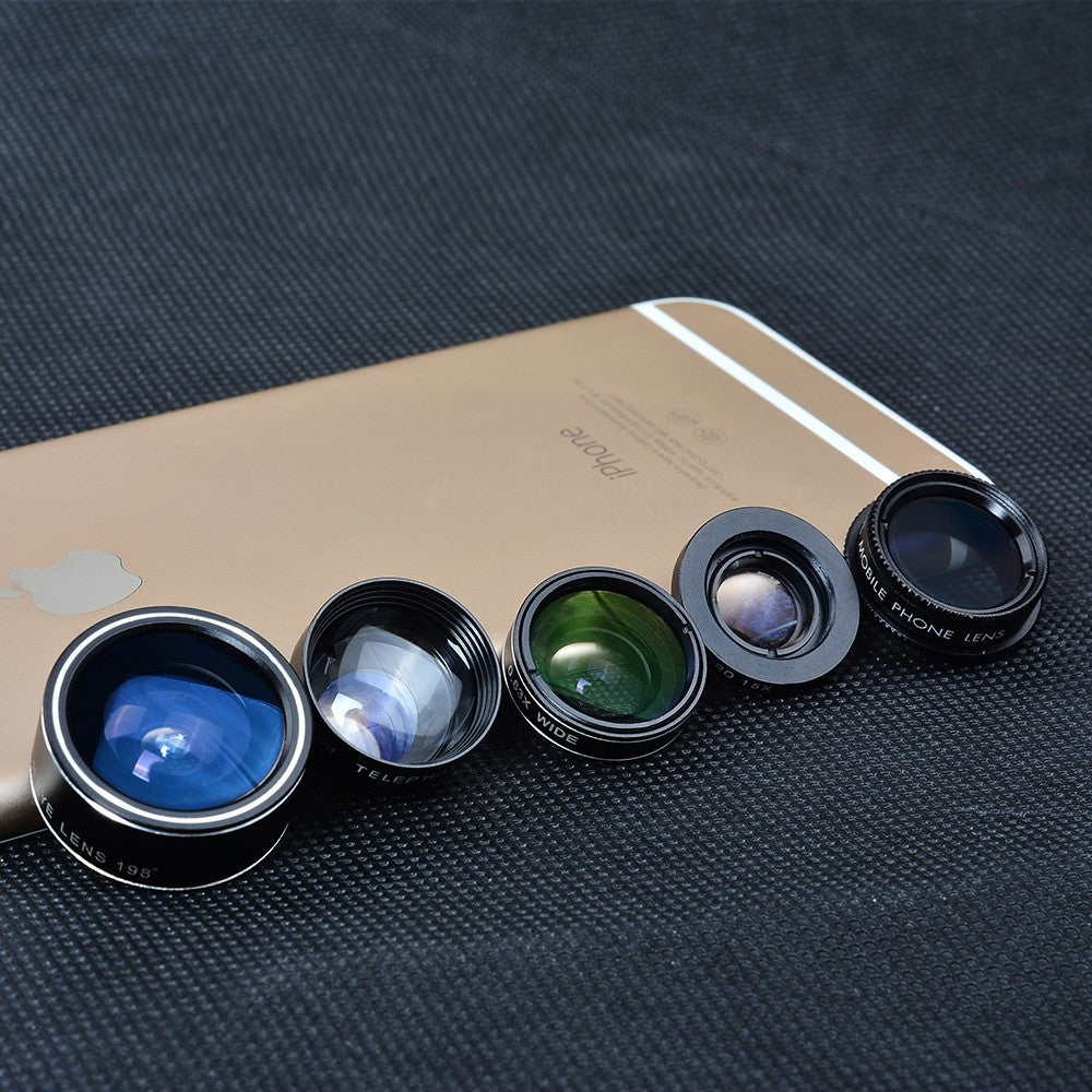 Professional 5pcs Cell Phone Camera Optic Lens for iPhone Samsung Sony LG