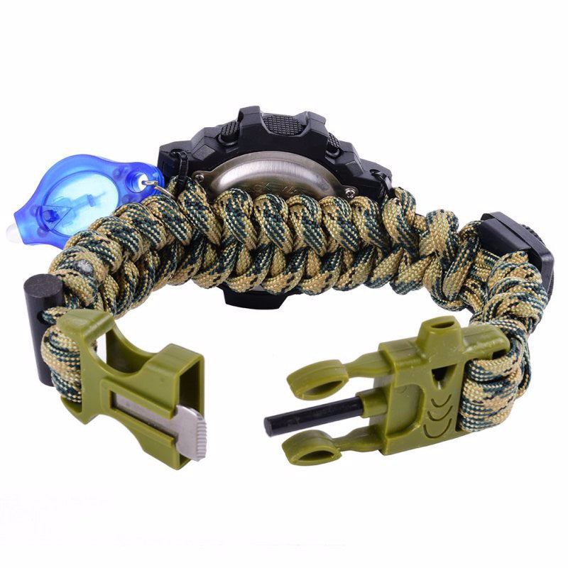 Waterproof Paracord Survival Tactical Digital Watch