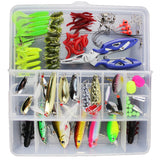101 PCS Fishing Lures Set Tackle Mixed Hard Baits Soft Baits Popper Crankbait with Tackle Box