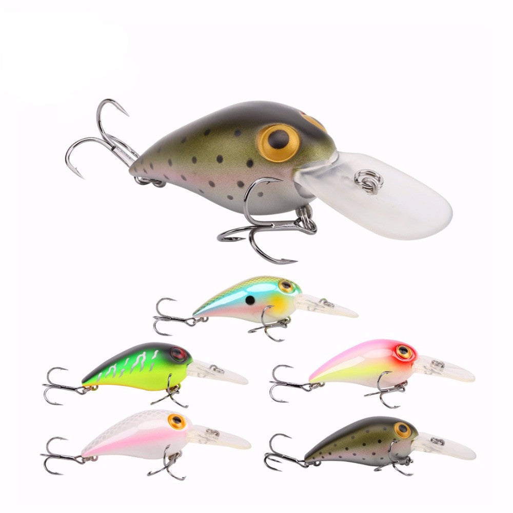 Floating Crankbait Fishing Lures Lifelike Wobblers 3D Eyes Pack of 5 PCS