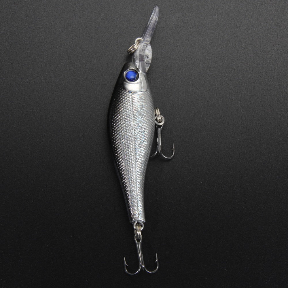 Silver Shiner Fishing Lure 3D Eyes Pack of 4 PCS