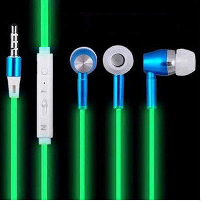 Glow In Dark Luminous Earphone With Microphone For iPhone & Android