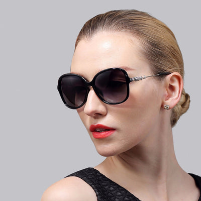 2017 Designer Vintage Wrap Polarized Women Sunglasses