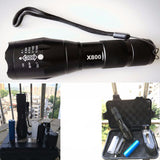 X800 Tactical Military 1000 Lumen Zoomable LED Flashlight