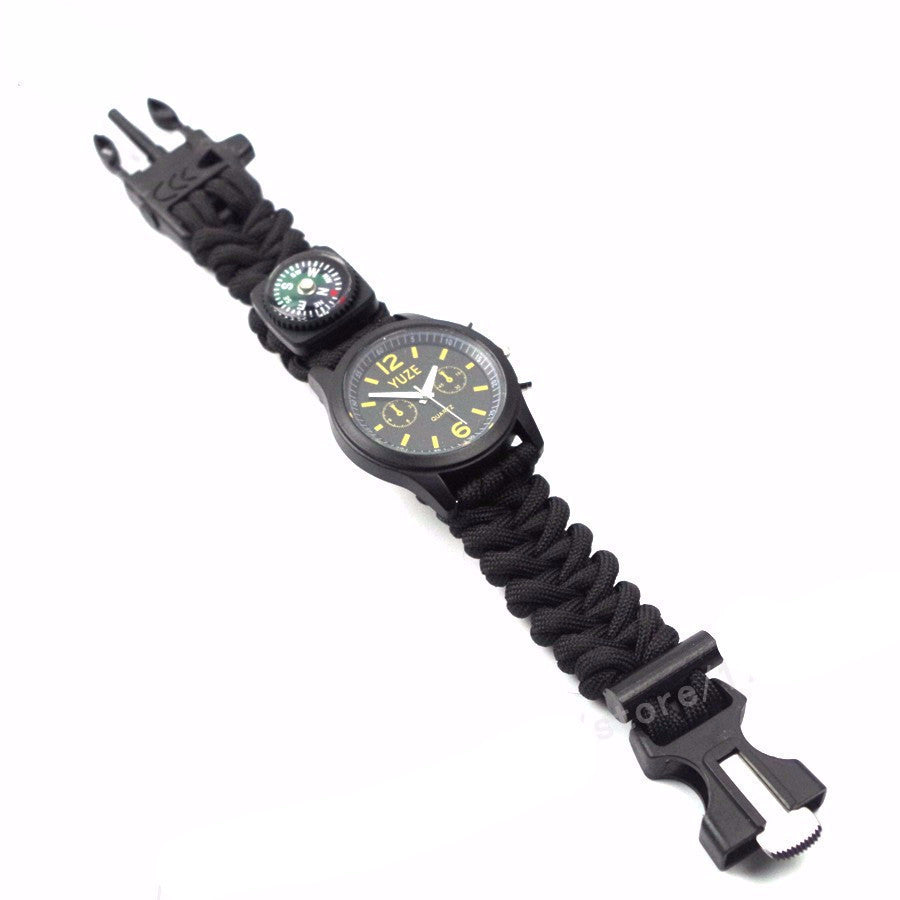 Tactical Survival Camping Paracord Watch