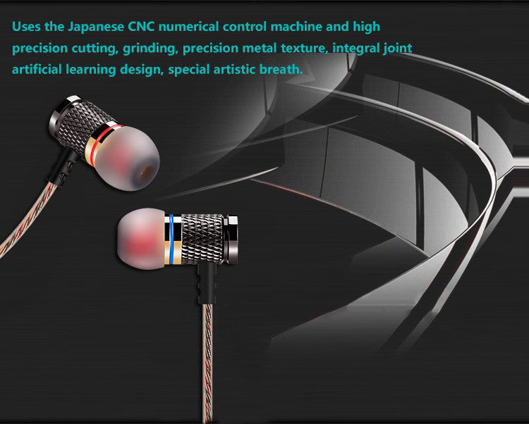 Heavy Bass Sound Quality Professional In-Ear Metal Earphone
