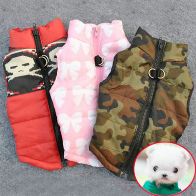 Winter Warm Dog Clothes Vest Harness Puppy Coat