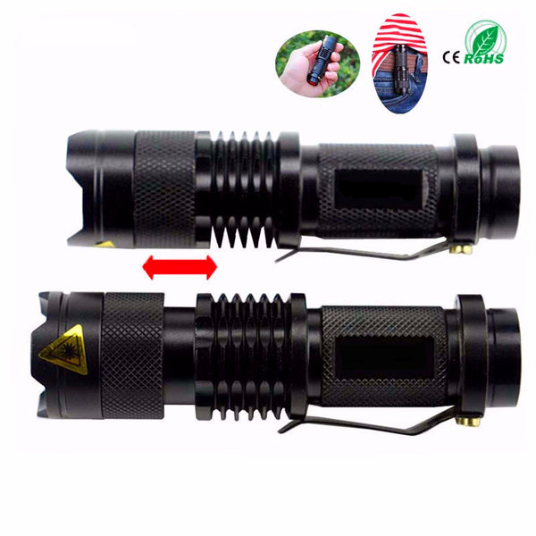 2000LM Waterproof Tactical LED Flashlight 3 Modes Zoomable