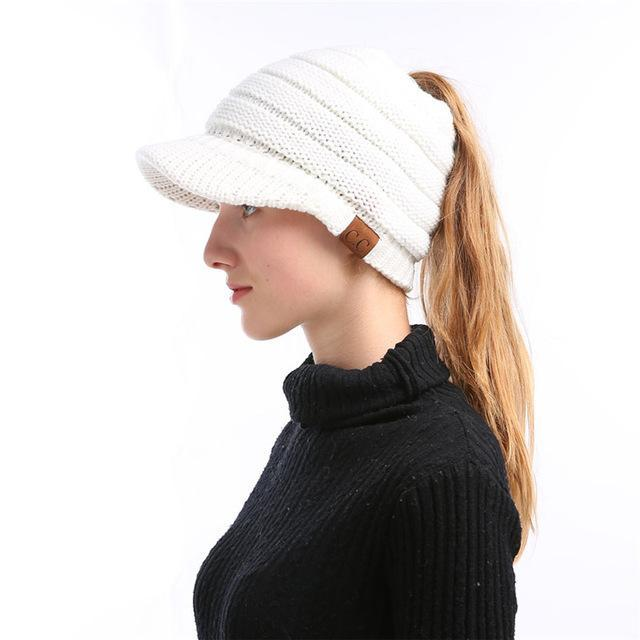 CutePony™ Soft Knit Ponytail Cap Special Offer