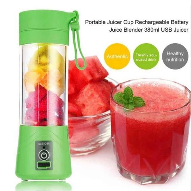 Portable Mini Blender Machine Perfect for Smoothie, 380ml USB Rechargeable