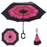Windproof Reverse Folding Double Layer Inverted Umbrella