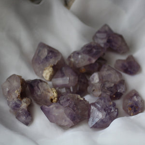 Amethyst with Cacoxenite - Song of Stones