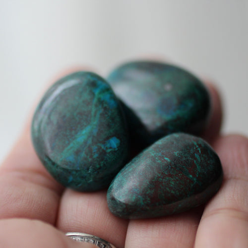 Chrysocolla Tumbles from Peru - Song of Stones