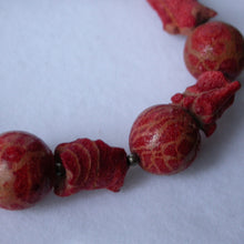 Natural Red Coral Necklace - Song of Stones