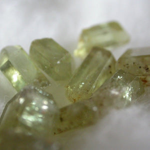 Green Apatite Crystals - Song of Stones